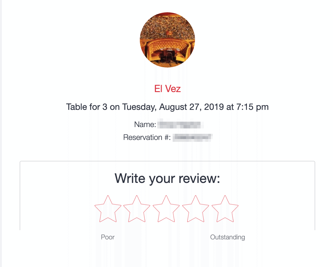 opentable feedback email