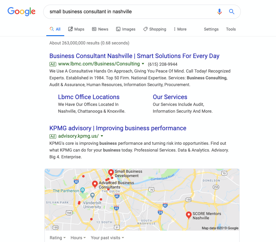 paid google ads for consultants