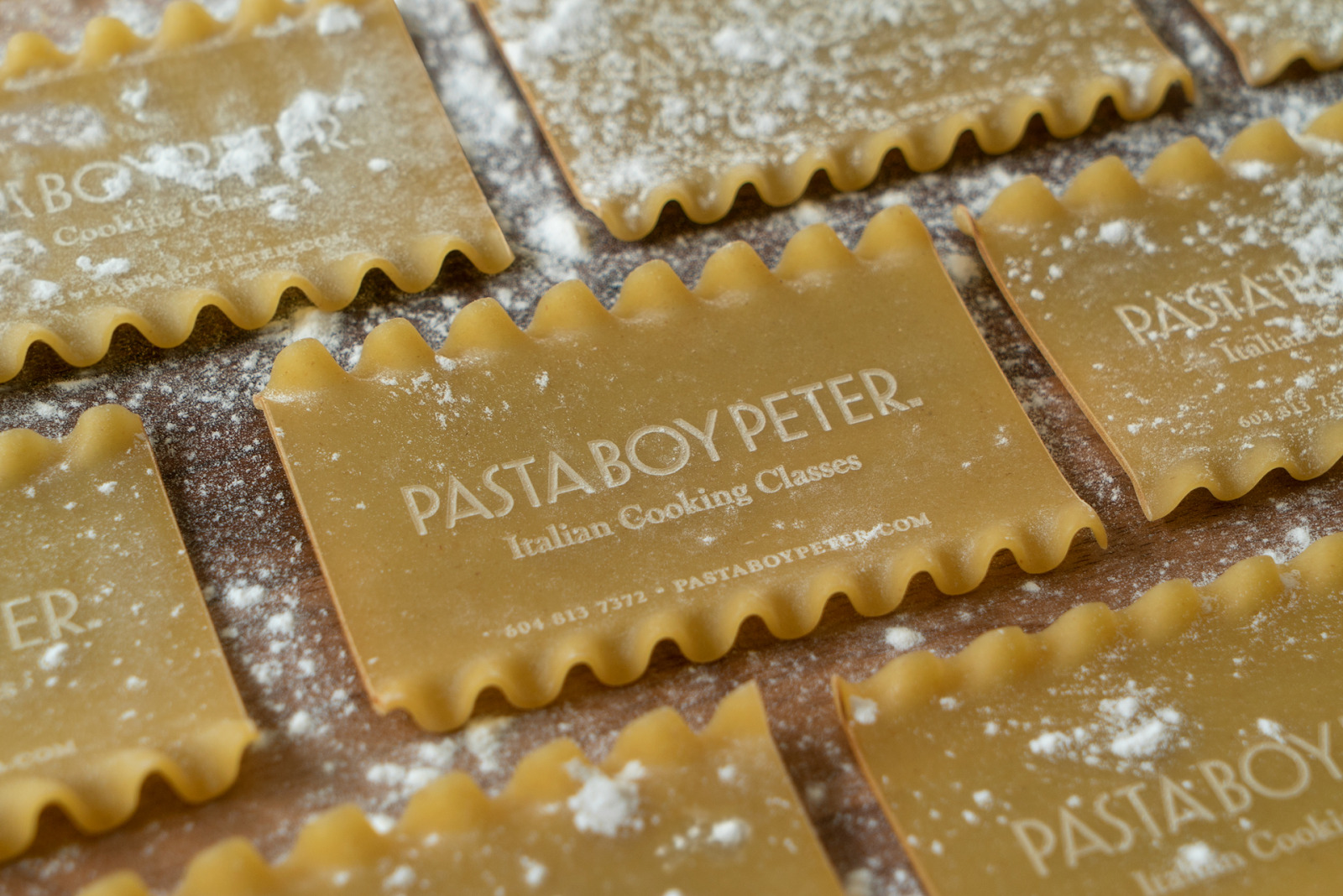 pasta boy business card