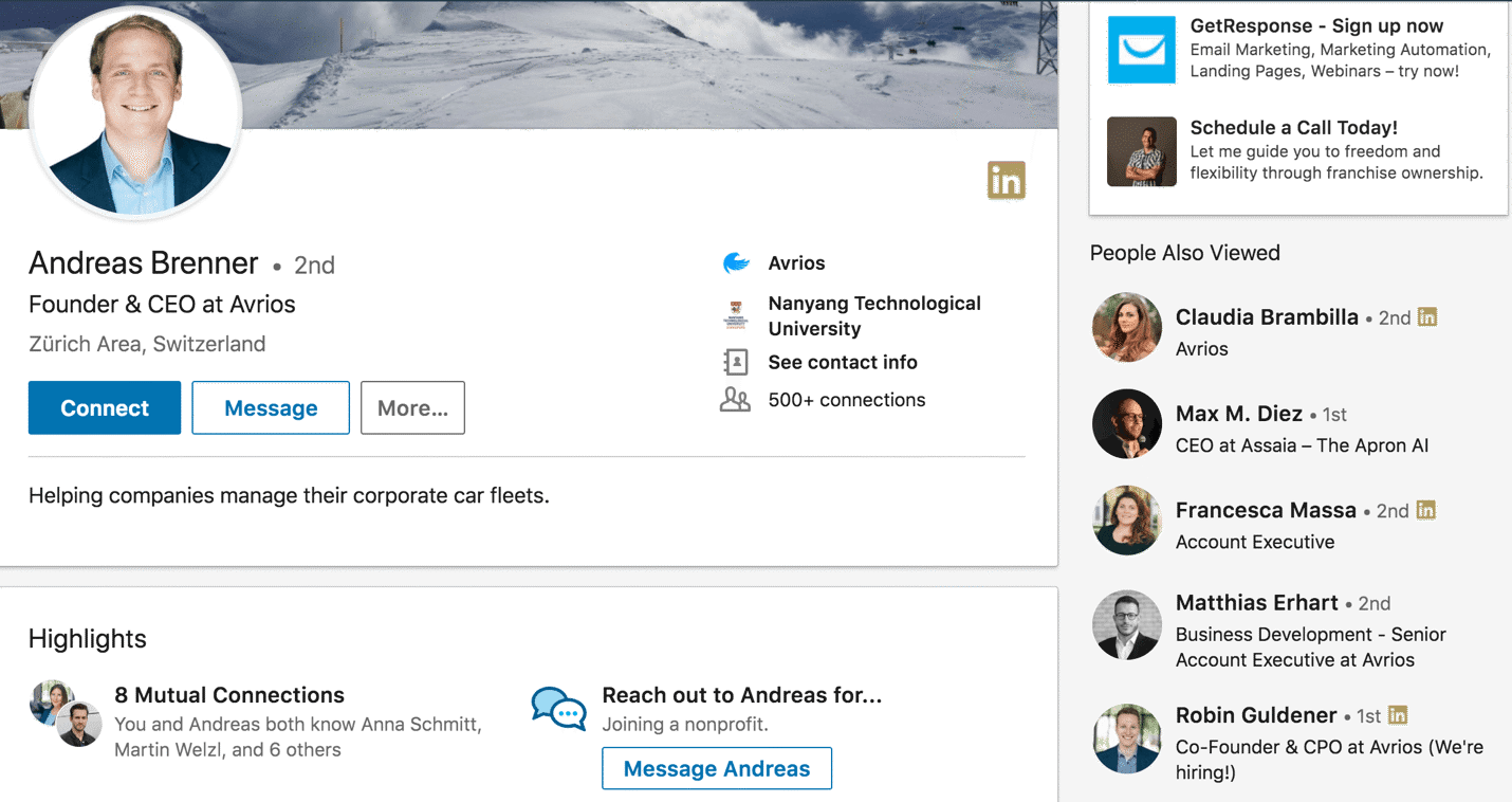 "how to use ""people also viewed"" on linkedin"