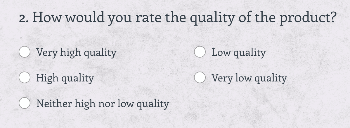product-centric customer survey