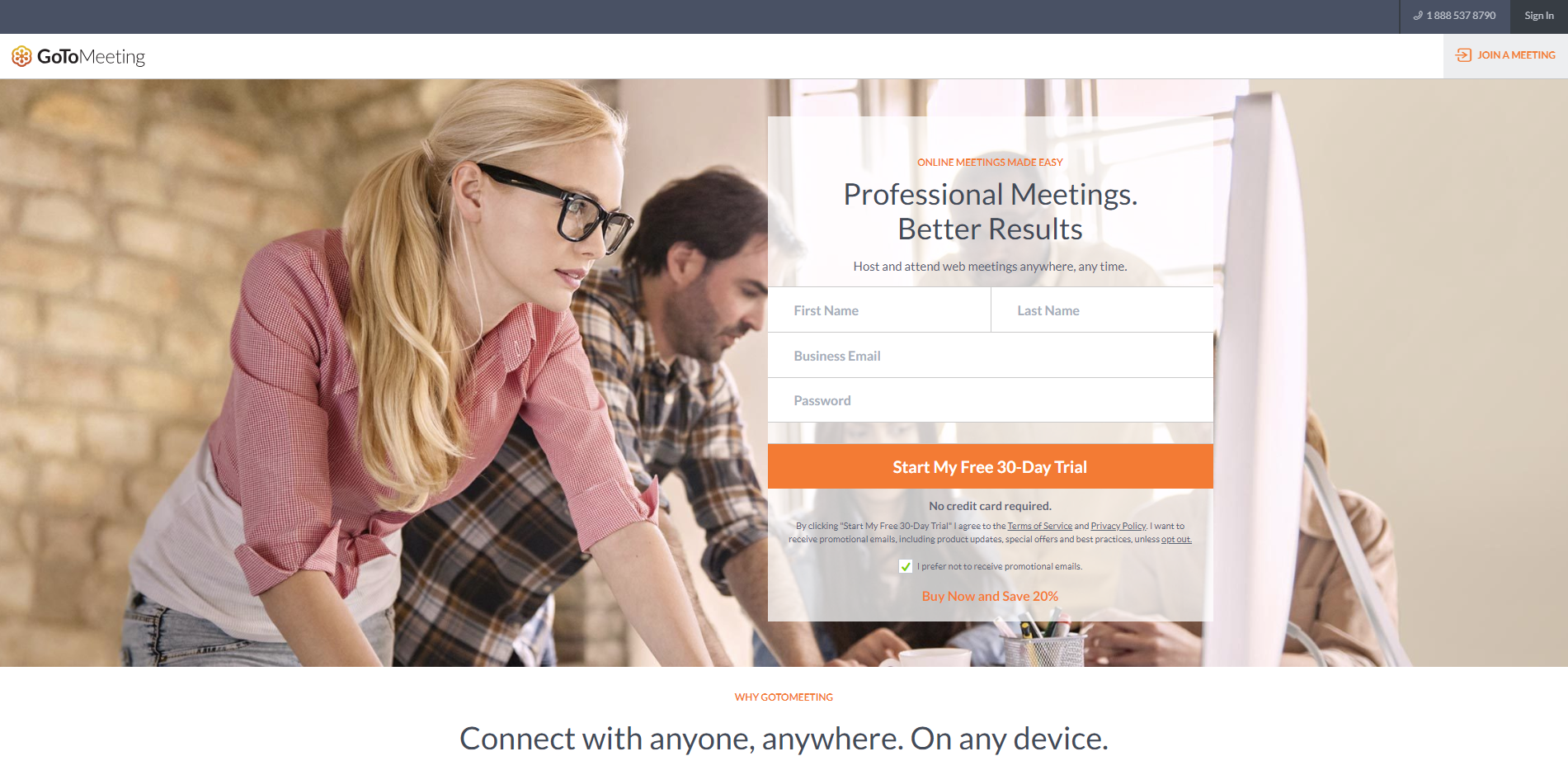 GoToMeeting lets you attend online meetings