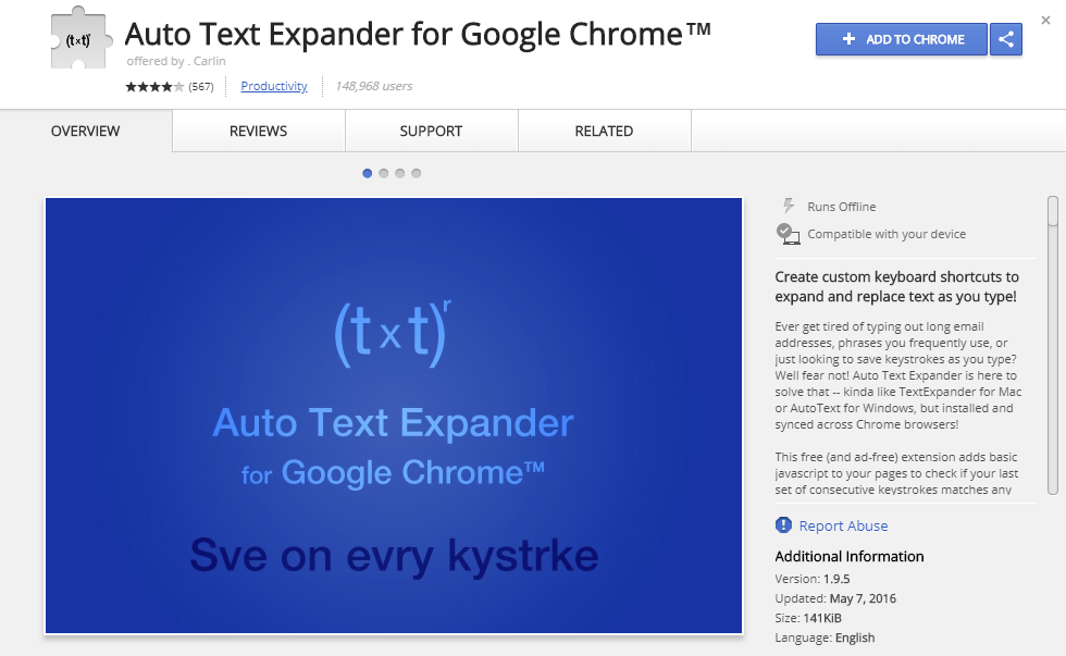 auto text expander chrome extension sales productivity tool