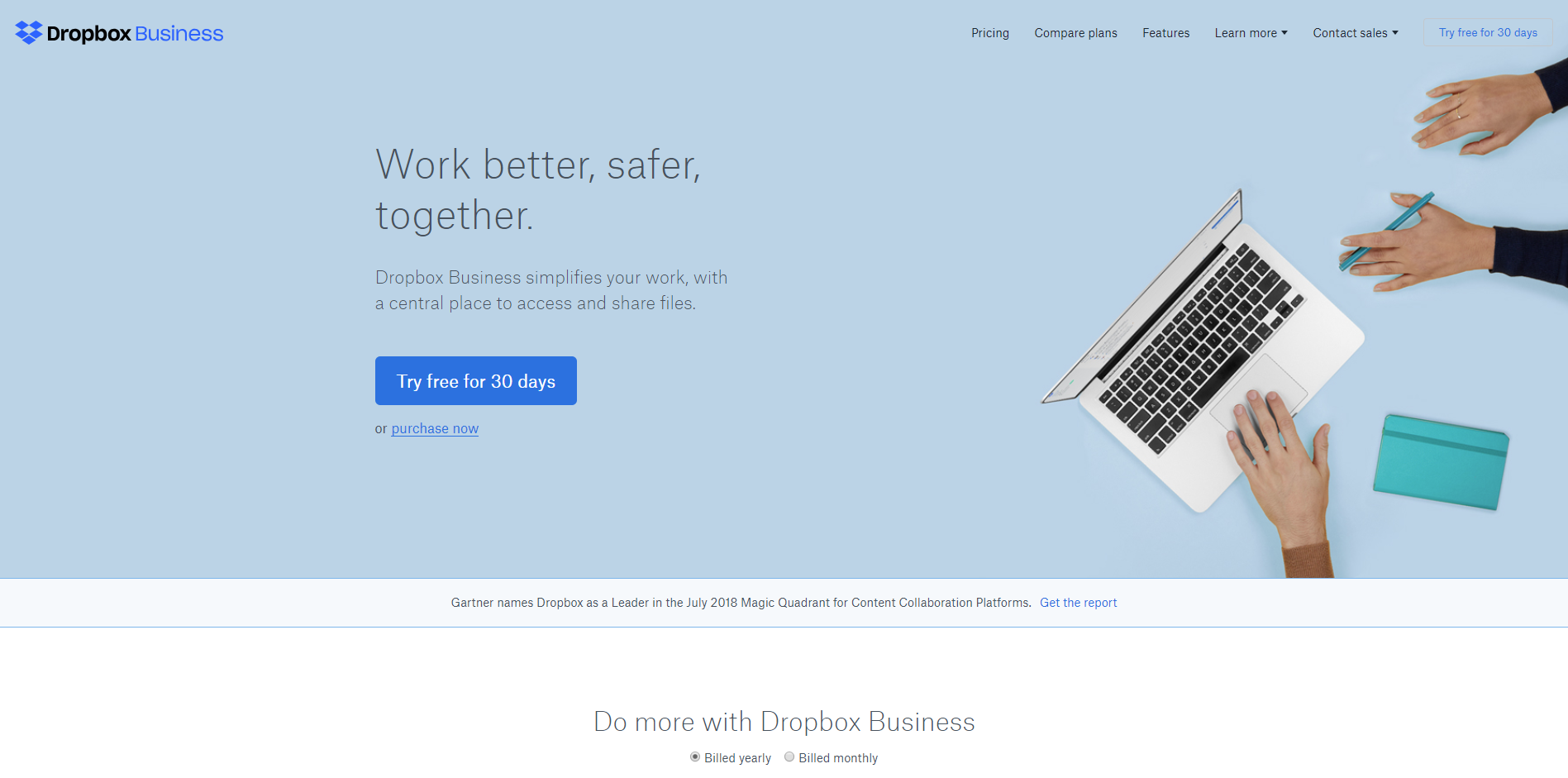 dropbox stores files and other docs sales productivity tool