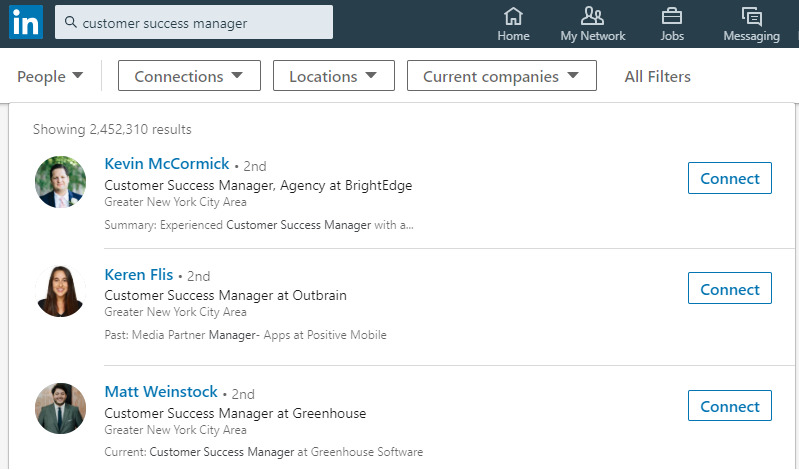 how to search linkedin summaries