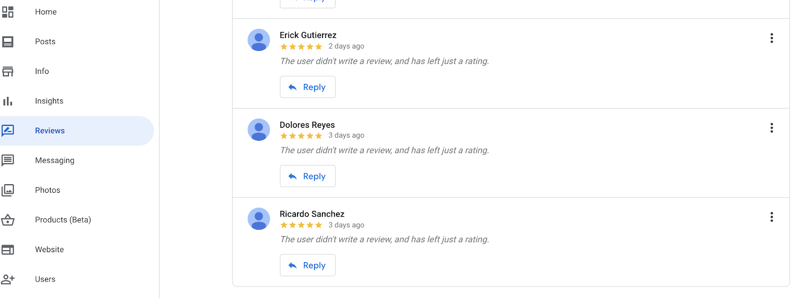 see all reviews on google businesses