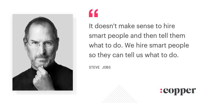 steve jobs leader quote