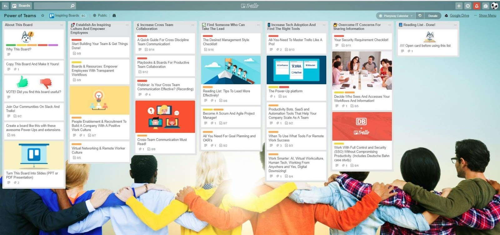 trello project management board