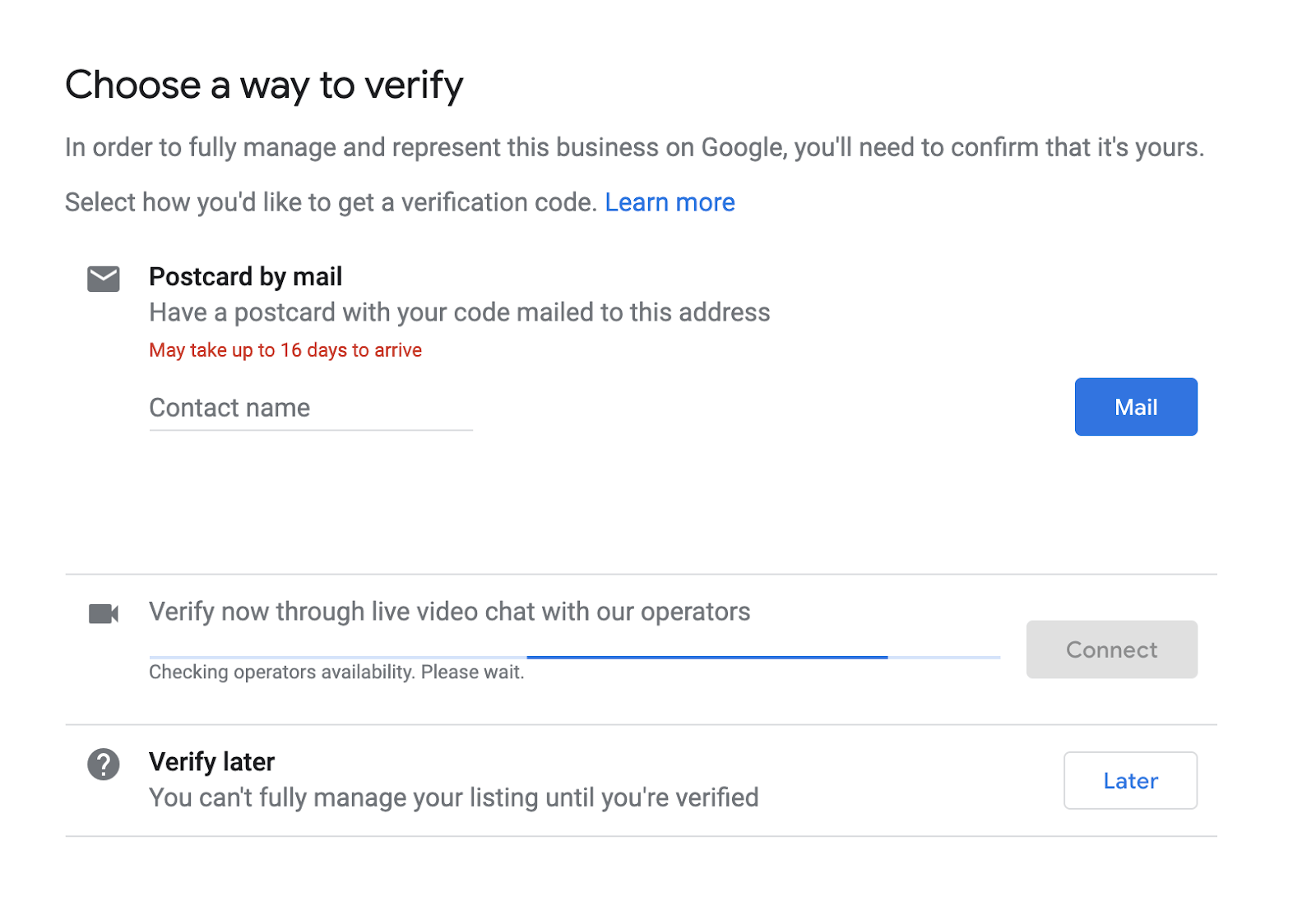 how to verify a business on google