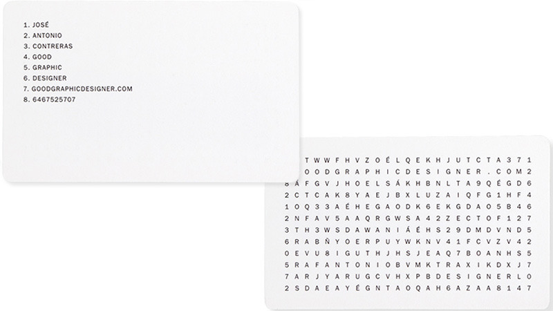 word puzzle business card